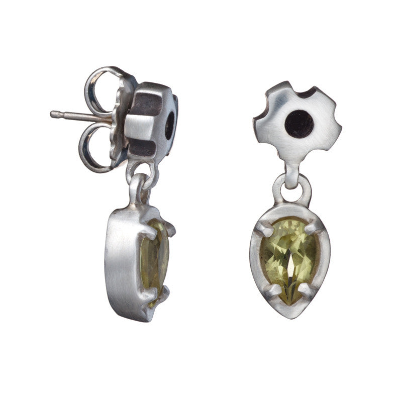 ARCHIVE COLLECTION: leaf sprocket peridot earring (circa 2001)