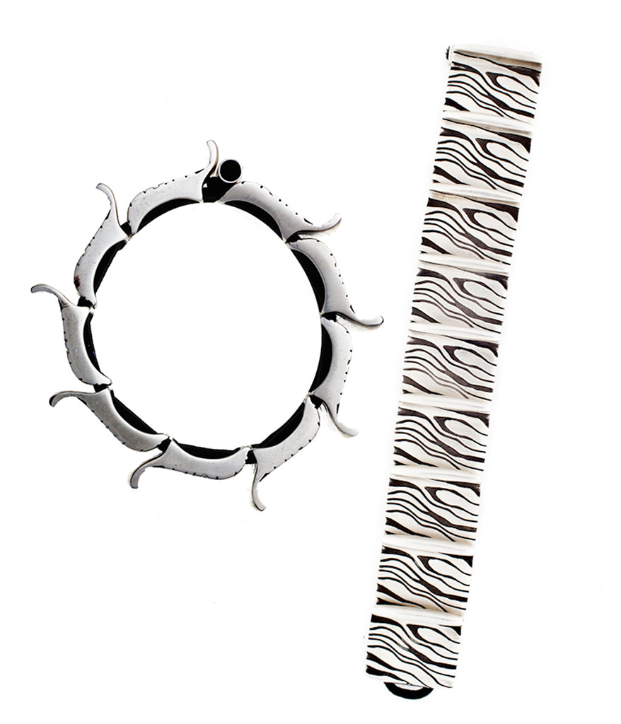 ARCHIVE BRACELET: moire on chain (circa 2010)