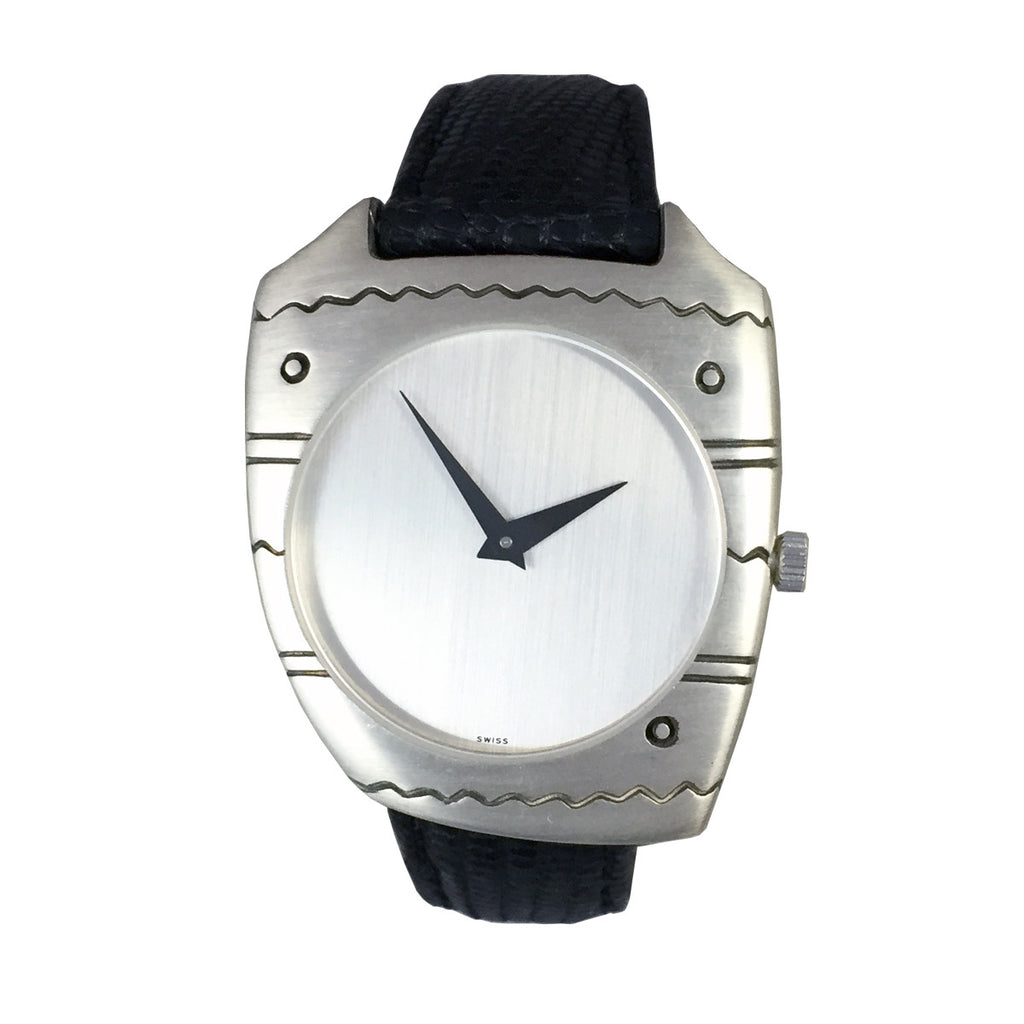 """Asymmetry"" Sterling Silver Vintage Watch"