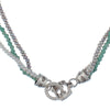 ARCHIVE COLLECTION: triple pearl and turquoise necklace (circa 2002)
