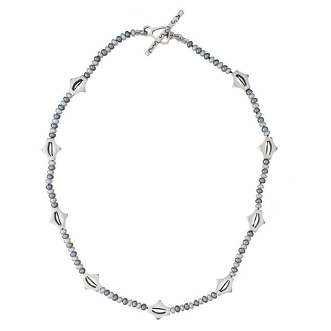ARCHIVE NECKLACE: Garland Gray & White Pearl (circa 2001)