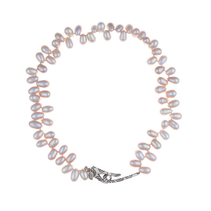 ARCHIVE COLLECTION: hook pink pearl necklace (circa 2000)