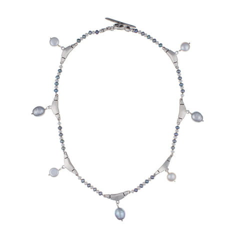 ARCHIVE COLLECTION: chandelier grey & white pearl necklace (circa 1997)