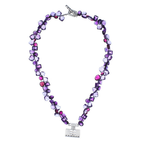 ARCHIVE COLLECTION: cellblock amethyst mix necklace (circa 2003)