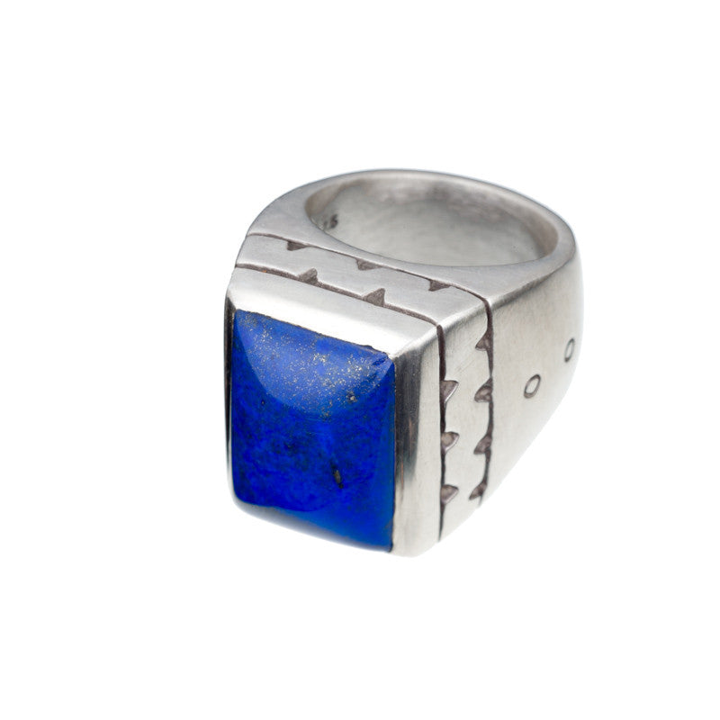 ARCHIVE COLLECTION: zeus lapis ring size 7 (circa 1996)