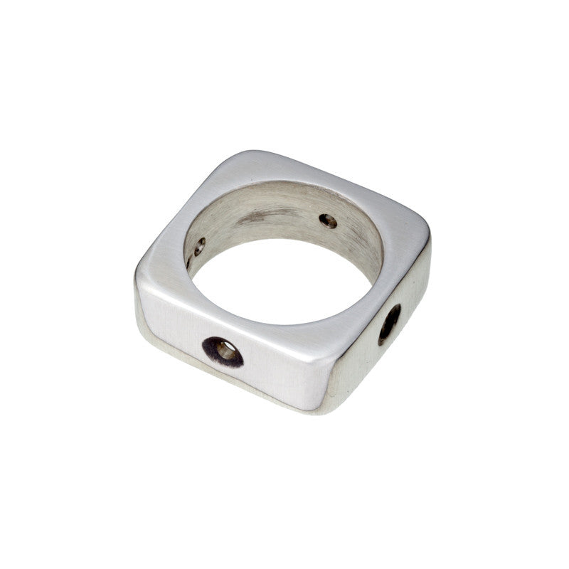 ARCHIVE COLLECTION: square sphere ring size 5.75 (circa 1997)