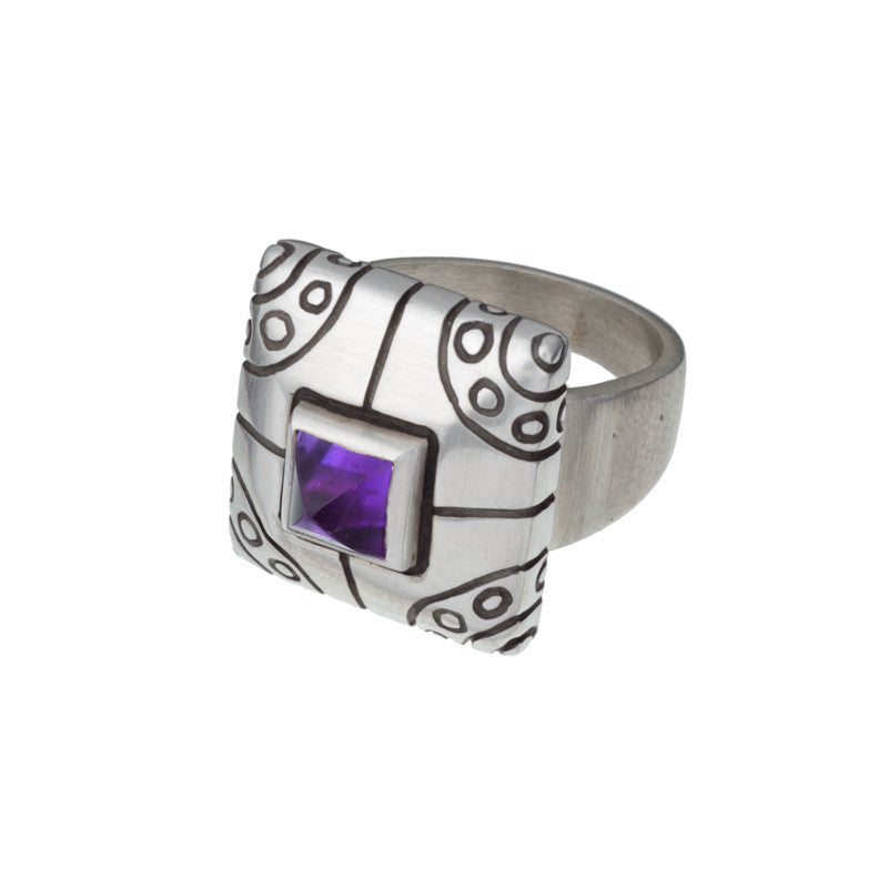 ARCHIVE COLLECTION: amethyst lux ring size 6.5 (circa 1999)
