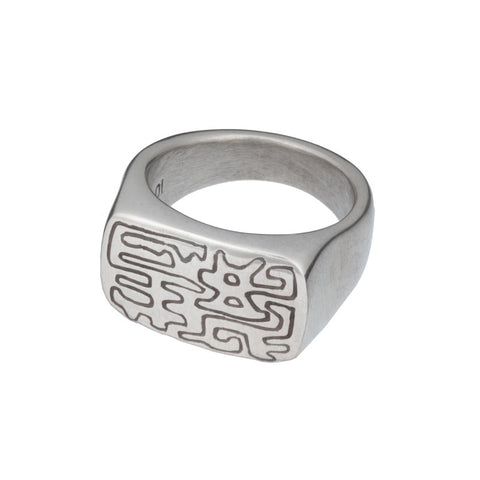 ARCHIVE COLLECTION: chinois signet ring size 10 (circa 2003)