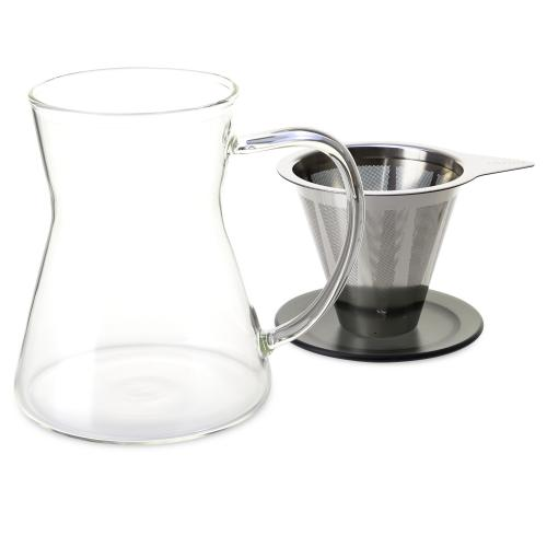 Lucidity Drip-in-Mug with Stainless Dripper & Lid 12 oz. - Eternity Coffee Roasters