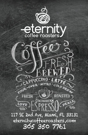 E-gift cards for purchases on our website. Email to the coffee lover in your life! - Eternity Coffee Roasters