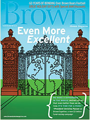 Brown Alumni Monthly featuring Thea Grant jewelry