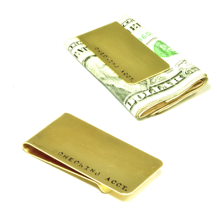 Money Clip Brass Engraved Monogram