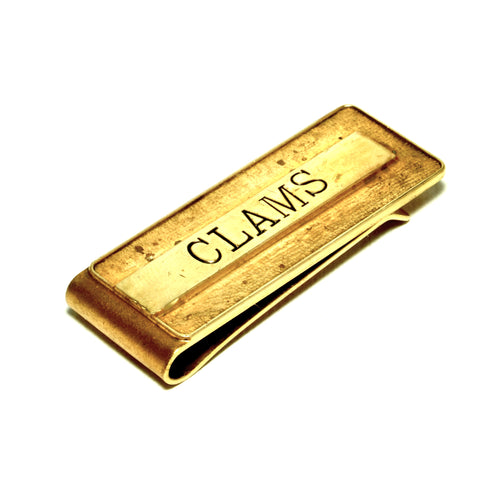 CASSIUS stamped money clip: CLAMS