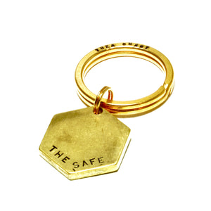 APTO stamped keyring: THE SAFE
