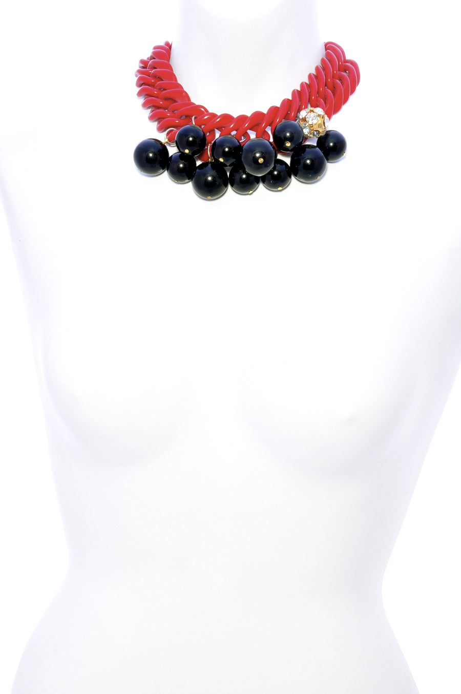 Chunky short bobble necklace.Long Shot