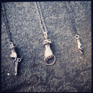 Crossed Fingers Pendant Necklace