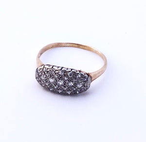 Almond Diamond Ring