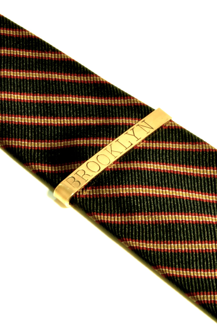 tie bar, custom brass