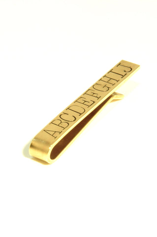 WINDSOR stamped tie bar: CUSTOM