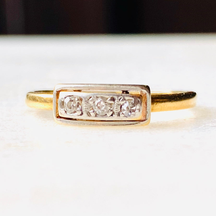 Antique Art Deco Diamond Trilogy Ring