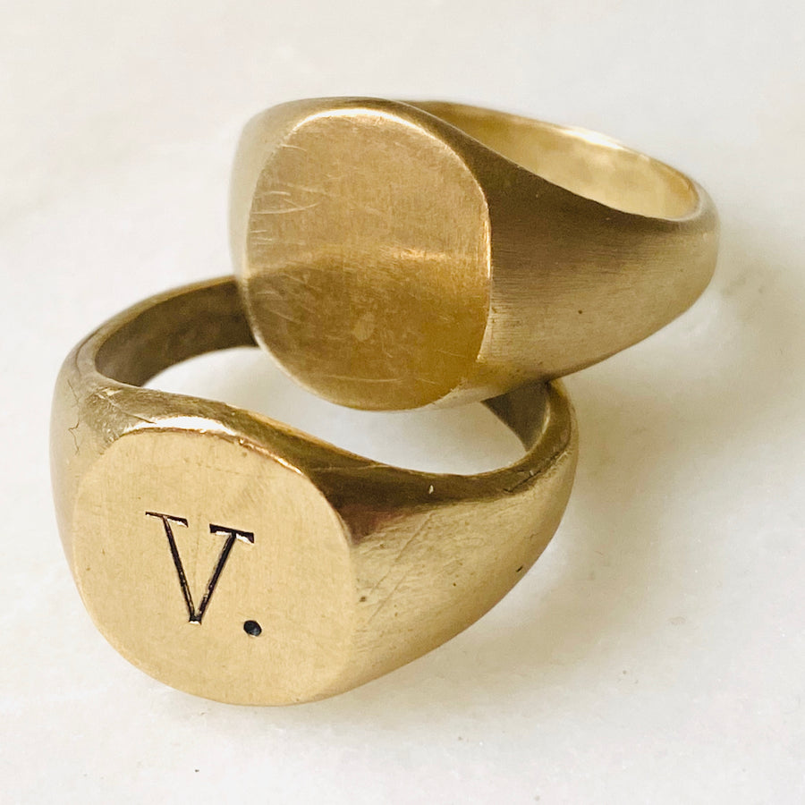 Signet rings, vintage style