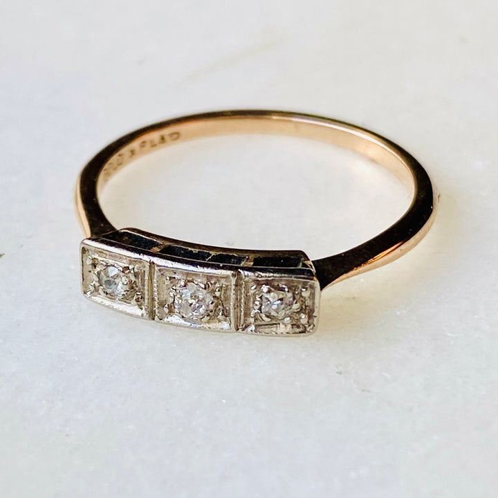 Art Deco Diamond Antique Trilogy Ring