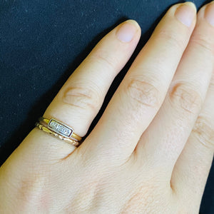 Small Diamond Trilogy Gold Antique Ring