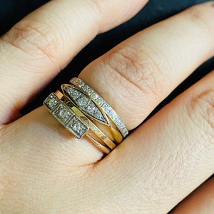 Art Deco Diamond Ring Stack