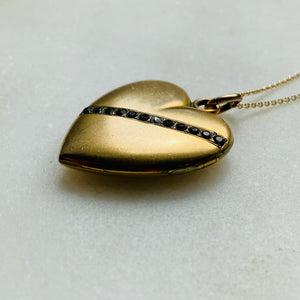 Antique heart locket.