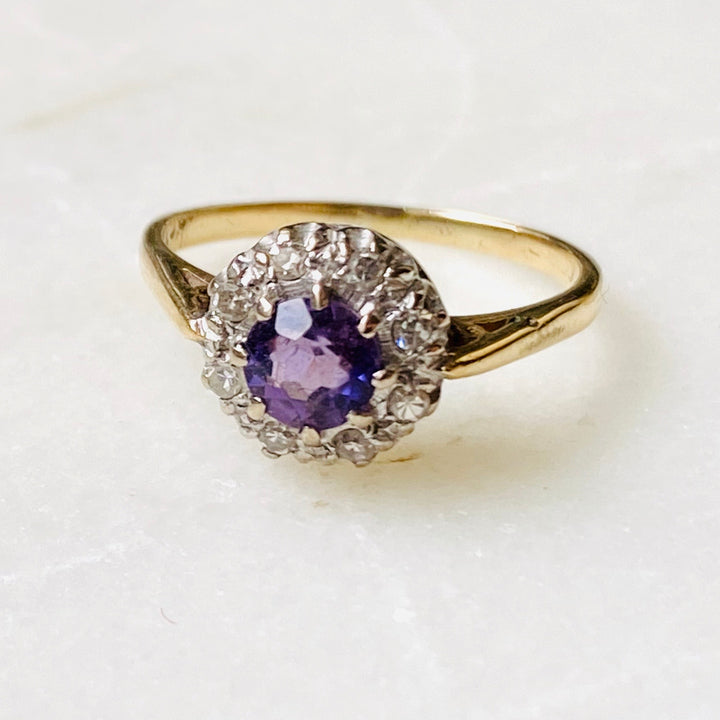 Antique Amethyst diamond ring