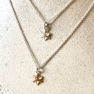 Small six pointed star pendant necklace