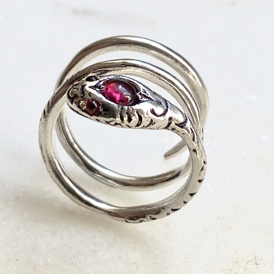 Snake Wrap Sterling Silver Ring