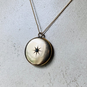 Victorian antique locket star