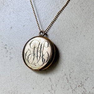 Antique Monogram locket
