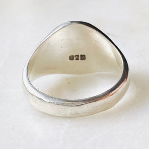Signet ring, sterling silver stamped