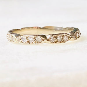 Lupita Diamond Eternity 14k Gold Band Ring