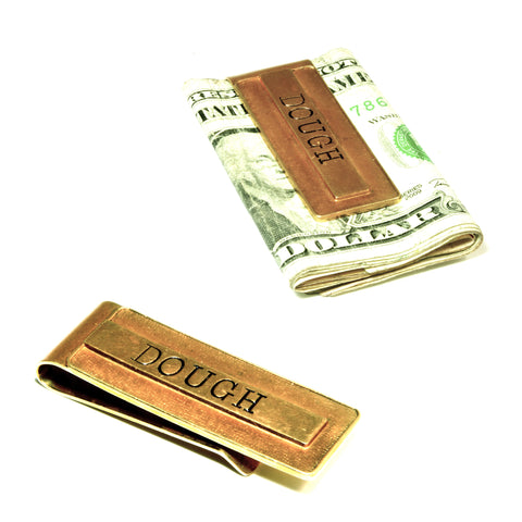 CASSIUS stamped money clip: DOUGH