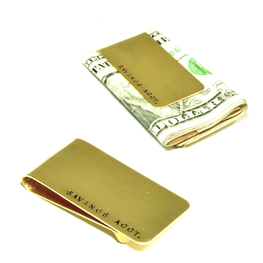 CASSIUS money clip: SAVINGS ACCT