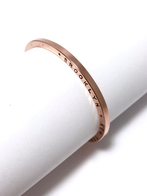 UNION SQUARE COPPER stamped cuff: CUSTOM