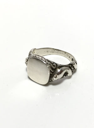 CLEO snake serpent signet ring sterling
