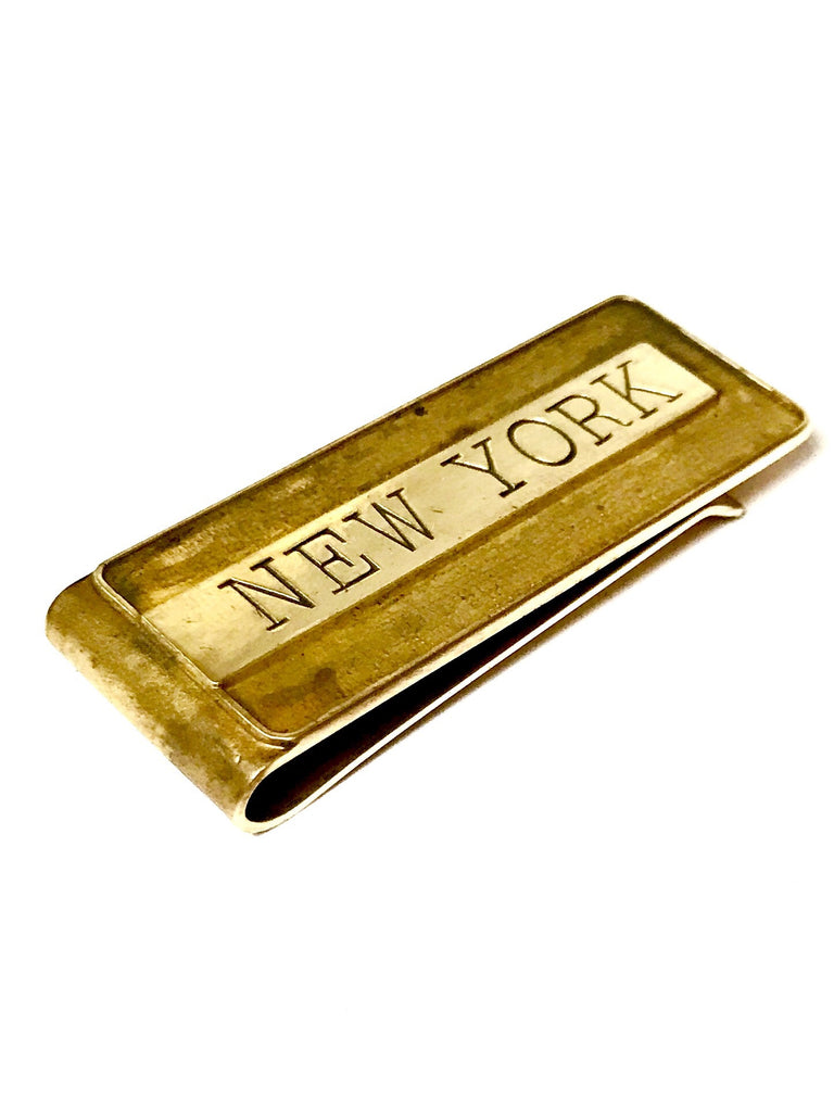 CASSIUS stamped money clip: NEW YORK