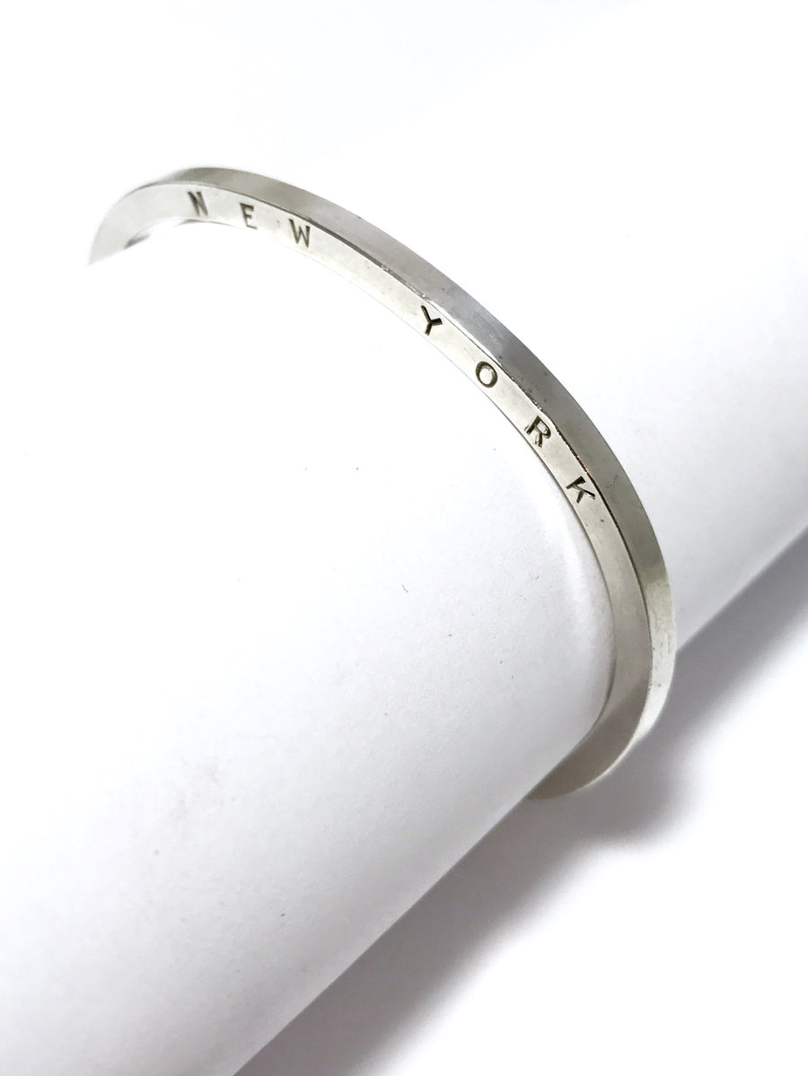 UNION SQUARE SILVER stamped cuff: CUSTOM