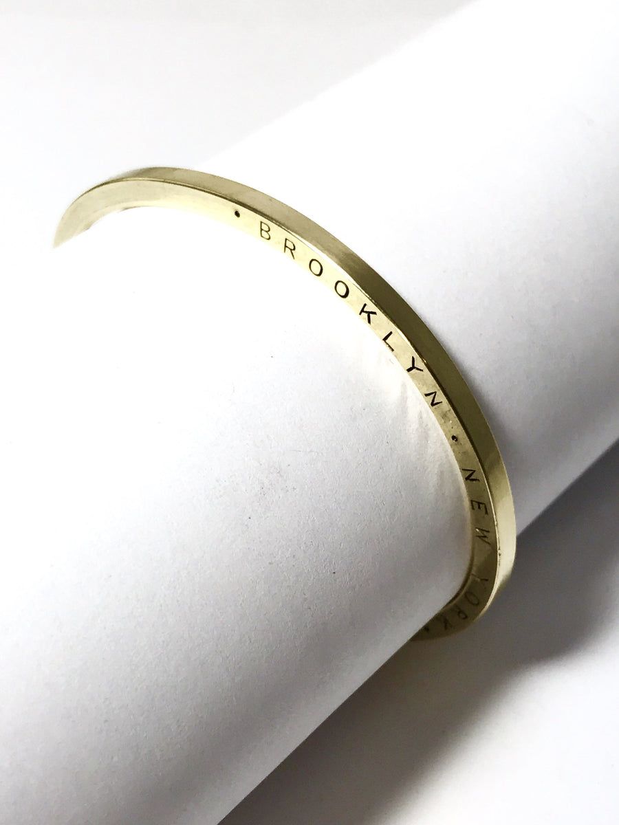 UNION SQUARE BRASS stamped cuff: CUSTOM