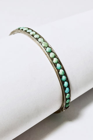 Percival Antique Turquoise Bangle Bracelet
