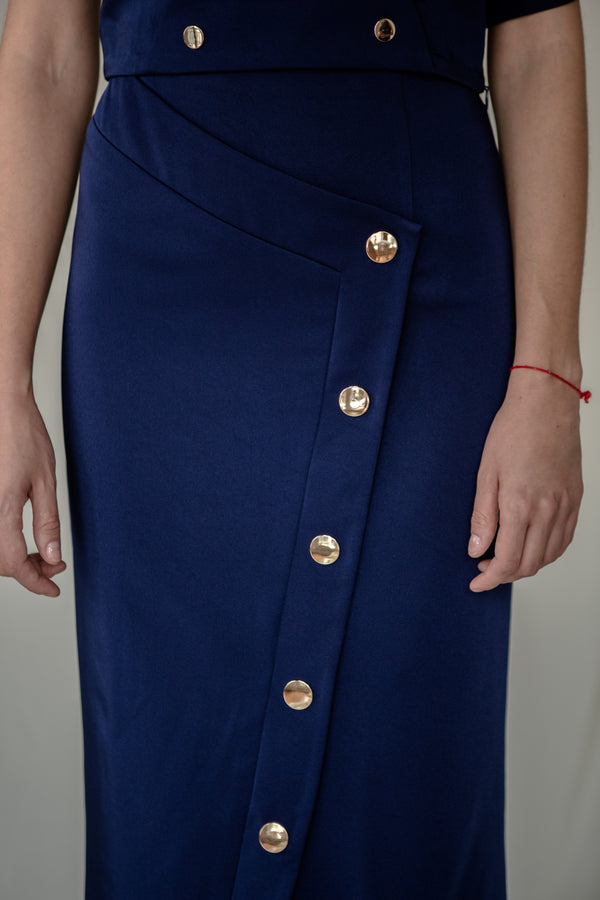 Stud Skirt in Blue