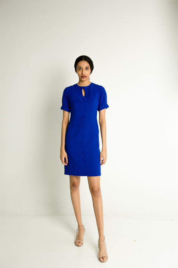 Pebbled Shift Dress