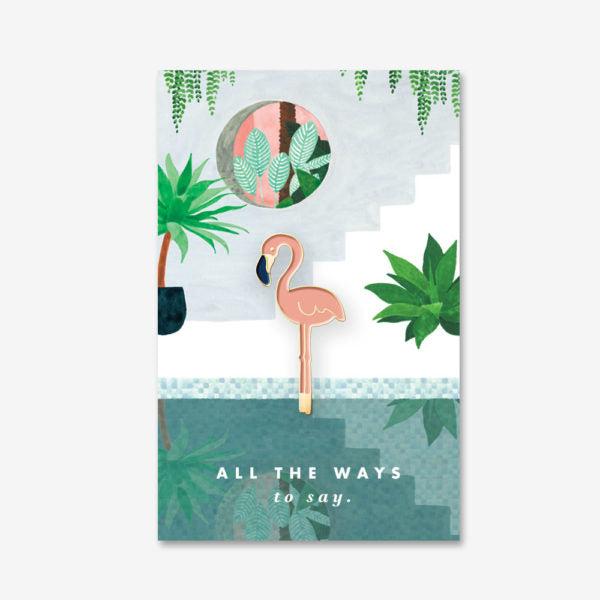 Pin's All the Ways to Say - Flamand rose