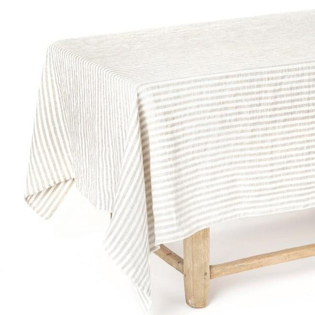 Nappe Magic Linen - rayé beige