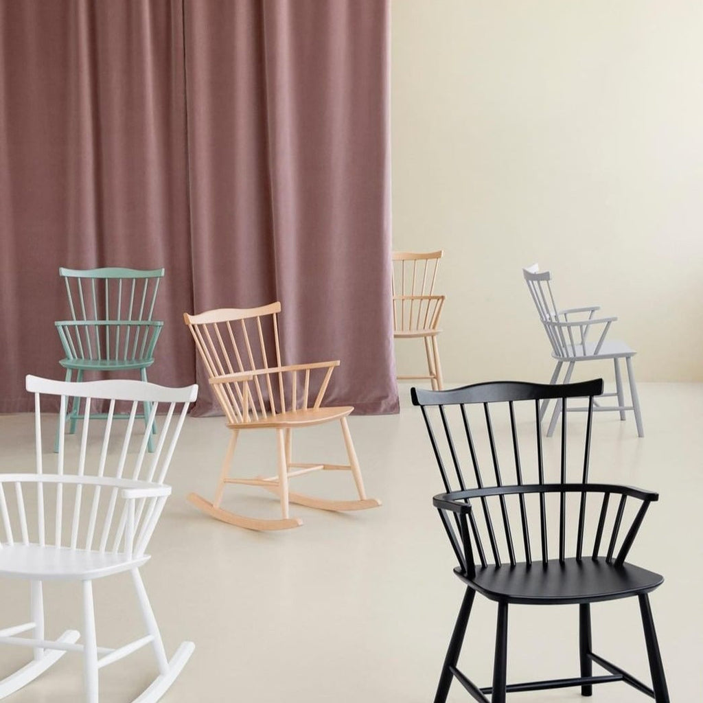 Rockingchair en hêtre FDB Møbler - 5 coloris