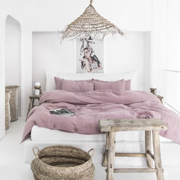 Housse de couette Magic Linen - Rose poudré